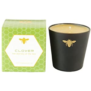 Paddywax Bee Collection Hand-poured Beeswax Blend Clover Scented Candle In Glass, 5.5-Ounce