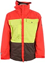 686 Smarty Command Snowboard Jacket Chili Colorblock Mens Sz L