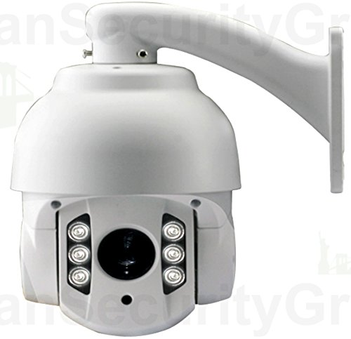 Usg Sony 1.3Mp 960P/720P High Definition Ip Ptz Speed Dome Security Camera: 5-50Mm Lens, 10X Motor Auto Zoom & Auto Focus, 6 Array Ir Leds For 200 Feet Night Vision, Onvif, Ip66 Nema 4X Outdoor Rated *** Perfect For Home Or Business Hd Cctv