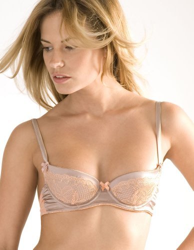 Mimi Holliday Tinkerbell Truffle and Apricot Padded Plunge Bra AW12-02 30E