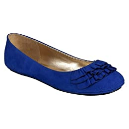 Product Image Women's Mossimo Supply Co. Odell Ruffle Ballet Flats - Royal Blue