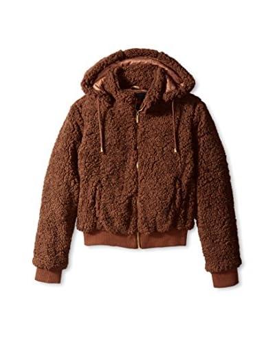 Yoki Women's Faux Fur Jacket  [Black]