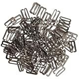 Alcoa Prime 100 Metal Gray Lingerie Bra Strap Adjuster Slider Hooks Sewing Craft 15mm