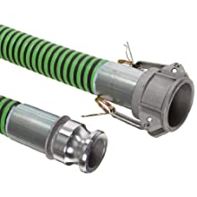 Goodyear EP Green Hornet XF Rubber Suction/Discharge Hose Assembly, Aluminum Cam And Groove Couplings