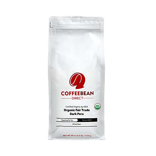 Coffee Bean Direct Organic Fair Trade, Dark Peru, 2.5 Pound (Coffee Bean Direct Peru compare prices)