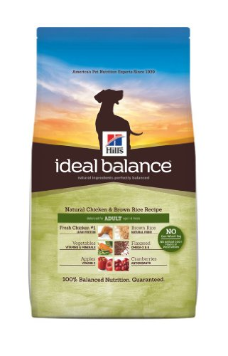 Hill's Ideal Balance Chicken and Brown Rice Recipe Adult Dog Dry Food Bag, 15-Pound