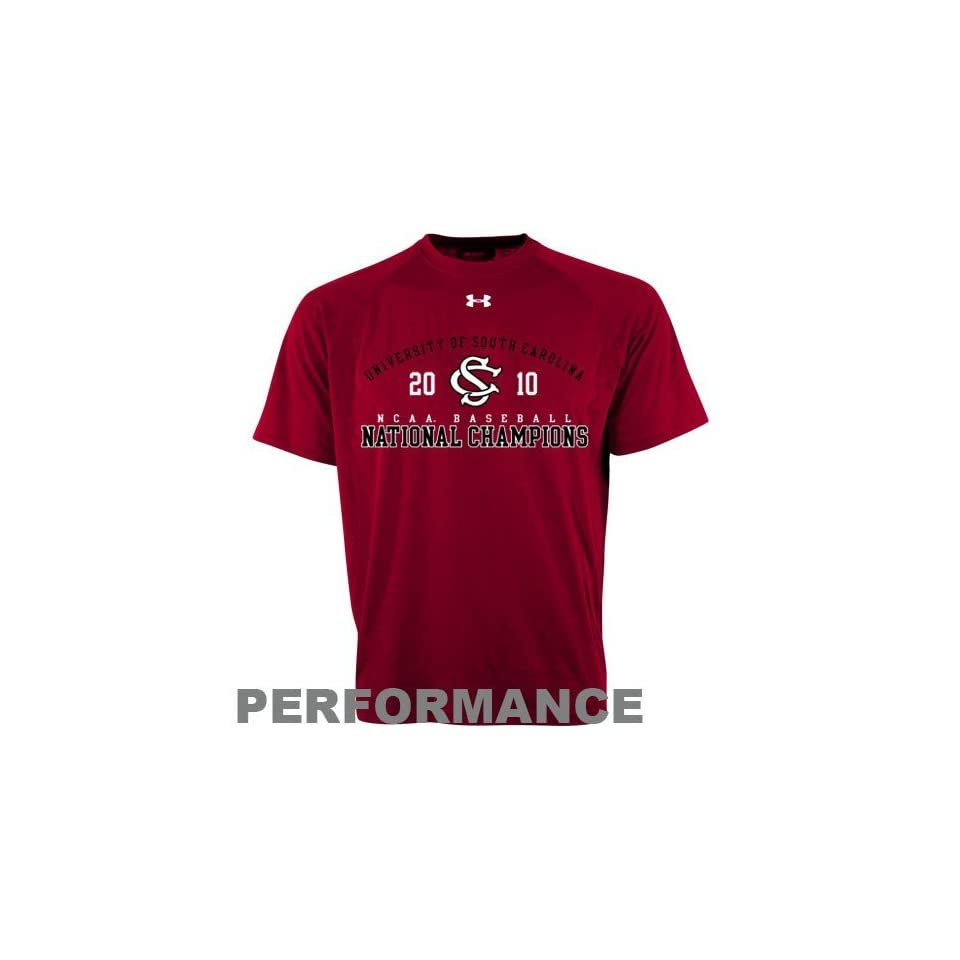 Under Armour South Carolina Gamecocks Garnet 2010 NCAA Mens College World Series Champions Performance T shirt