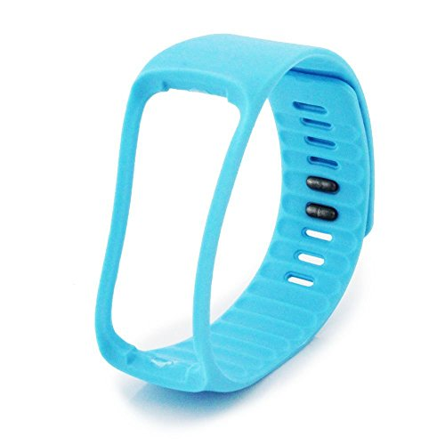 NIUTOP® Bande di ricambio con Metal Clasps per Samsung Galaxy Gear Fit / Wireless Activity braccialetto Sport Wristband / Samsung Galaxy Gear Fit Bracciale Sport Arm Band (No tracker, Replacement Bands Only) (blu)
