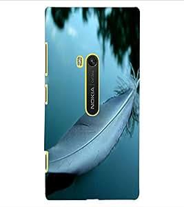 ColourCraft Lovely Feather Design Back Case Cover for NOKIA LUMIA 920