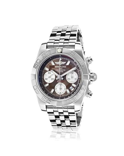 Breitling Men's Chronomat Brown Stainless Steel Watch