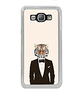 ifasho Scary Faces Pattern tiger man Back Case Cover for Samsung Galaxy J1 (2016 Edition)