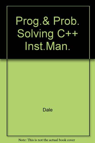 Prog.& Prob. Solving C++ Inst.Man.