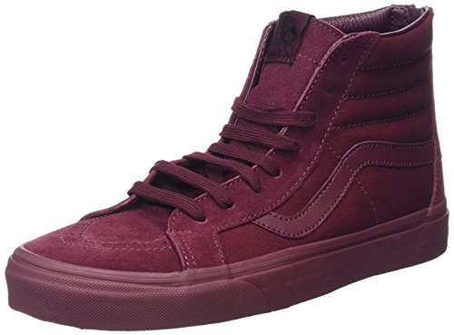 Vans SK8-Hi Reissue Zip, Scarpe da Ginnastica Alte Unisex - Adulto, Rosso (Mono Port Royale), 43 EU