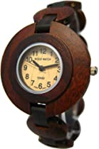 Tense Dark Light All Wood Sandalwood Watch Round Unique L8205SD