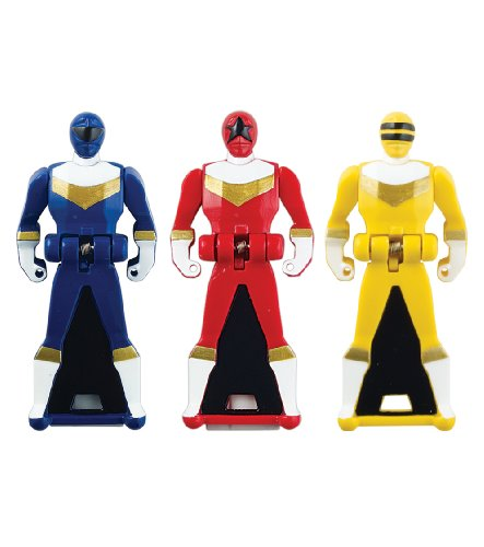 Power Rangers Super Megaforce - ZEO Legendary Ranger Key Pack, Red/Blue/Yellow (Power Rangers Zeo Game compare prices)