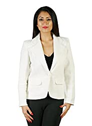 JAMES SCOT-Full Sleeves Solid White Colour Woolen Winter Wear Short Coat For Womens