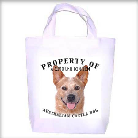 Australian Cattle Dog RED Property Shopping - Dog Toy - Tote Bag