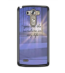 PrintDhaba Quote D-4896 Back Case Cover for LG G3 (Multi-Coloured)