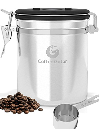 Coffee-Gator-Canister-With-Stainless-Steel-Scoop