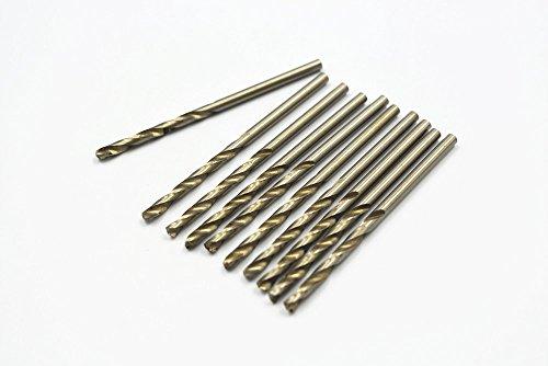 Antrader 10Pcs 3.0mm Diameter Silver Tone w Parallel Shank HSS M2 Twist Drilling Bits Drill Tool (Hss Parallel Shank Twist Drills compare prices)