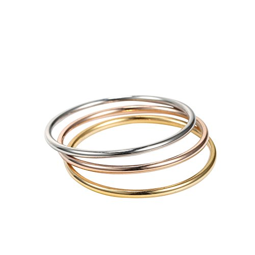 Jewelry Stainless Steel Womens Finger Rings for Teen Girls 3 Pcs a Set Promise Ring Eternity,sizes 2-10 (2) (Two Finger Rings For Teen Girls compare prices)