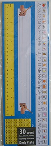 Desk Plate Learning All in One Aid - Ruler, Alphabets, Counting - 30 Count