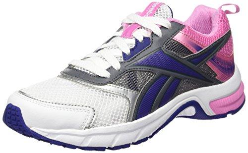 Reebok Pheehan Run 4.0 V68286 Scarpe Running Donna, Colore: Bianco / Rosa / Viola (39)