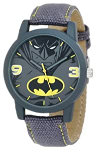 Batman Kids' BAT9041 Grey Canvas Batman Strap Watch