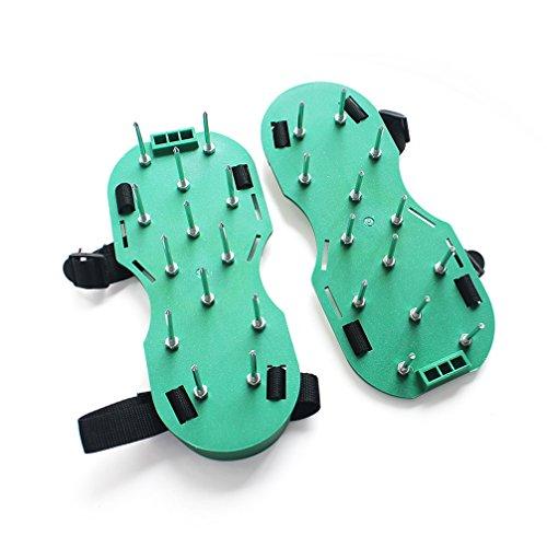 Settle® Garden Yard Lawn Aerator Sandals Spike Shoe Scarifier (Green)