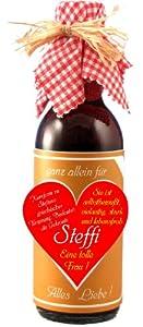"""Fruchtwein """"ganz allein für Steffi"""" 250 ml"""