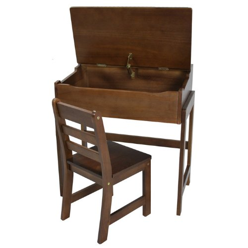 Children'S Slant-Top Desk With Chair
