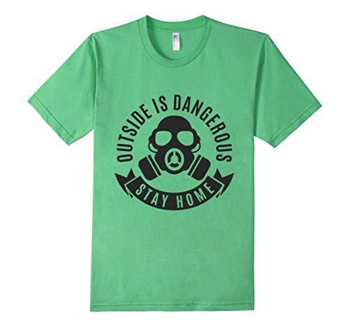 Mens-EmmaSaying-Outside-Is-Dangerous-Mask-Design-T-Shirt-Fun-Tee-Grass