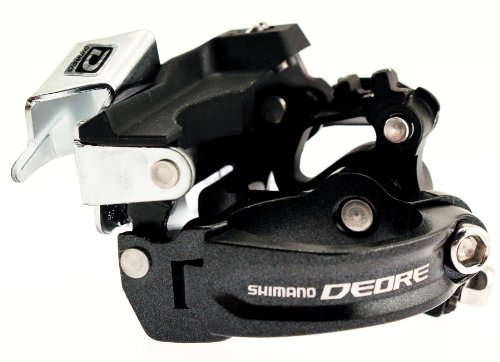 SHIMANO DEORE FD-M590 Triple Front Derailleur 34.9mm Low Clamp 3 Speed MTB nos shimano xtr front derailleur fd m961 dual pull bottom swing 34 9 new in box