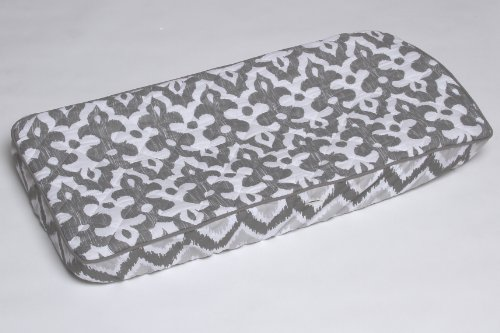 Ikkat Zigzag Grey  Changing Pad Cover