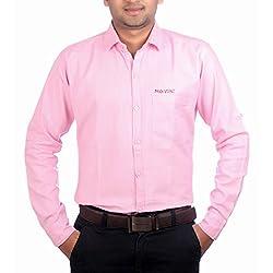 Aaduki Men's Casual Pink Shirt-38