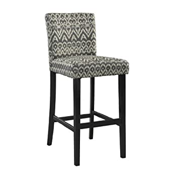 Linon Home Decor Bar Height Stool Morocco Stool, Driftwood