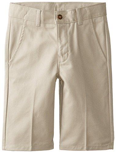 Nautica Big Boys' Uniform Slim Leg Flat Front Short, Khaki, 12/Small