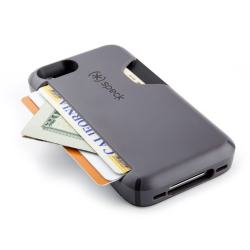 Speck  CandyShell Card Phone Case for iPhone 4 - NightDrive Grey (SPK-A0332)