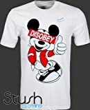 Stush Clothing Mickey Mouse 'DISOBEY' T-shirt Tee