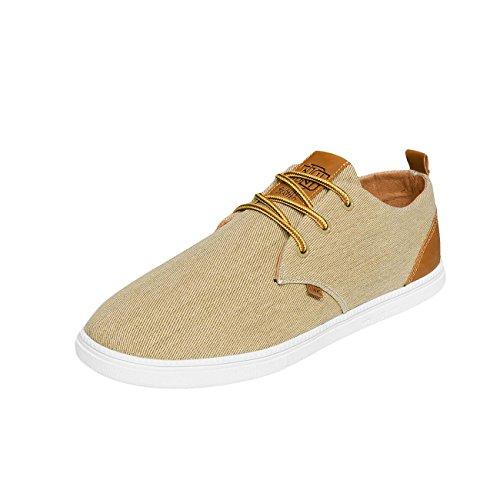 Djinns Herren Sneaker Washed Canvas Low Lau khaki 41