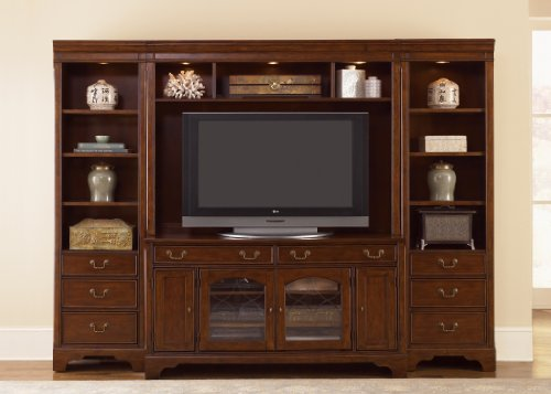 Cheap LIBERTY ANSLEY MANOR ENTERTAINMENT CENTER TV STAND HUTCH & PIERS CINNAMON 4PC (577-ENTW)