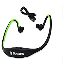 Infocus Bingo 10 COMPATIBLE BS19 Wireless Bluetooth On-ear Sports Headset Headphones (with Micro Sd Card Slot and FM Radio) BLACK by JIKRA