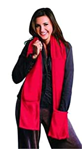 SPA COMFORTS Microwavable Scarf and Hand Warmers - Red