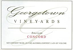 NV Georgetown Vineyards Estate Grown Ohio Concord Wine 750ml
