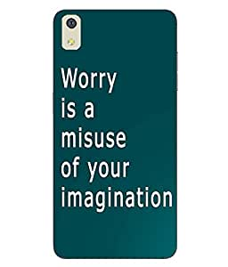 Make My Print Inspirational Slogan Printed Soft Back Cover For LYF WATER 8