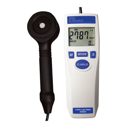 Sper Scientific 850009 Ultra Violet Light Meter, Accurately Measure UVA/B, 280-400nm Wavelength