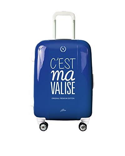 Calibag Trolley rígido Original C'Est Ma Valise 55cm Azul