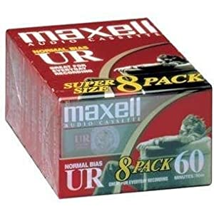 Maxell UR-60 Blank Audio Cassette Tape - 8 Pack (109085) from Maxell