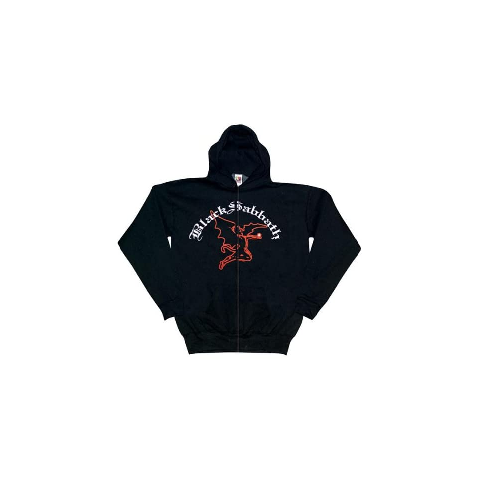 Black Sabbath   Flying Demon Zip Up Hoodie   X Large