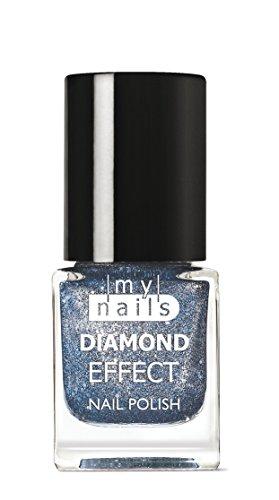 MY NAILS - BLU DIAMOND EFFECT